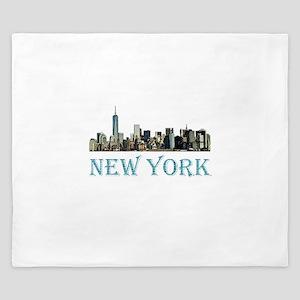 New York City King Duvet