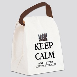 Keep Calm And Write Your Suspense Canvas Lunch Bag