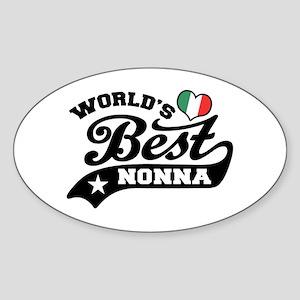 World's Best Nonna Sticker (Oval)