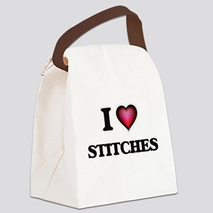 I love Stitches Canvas Lunch Bag