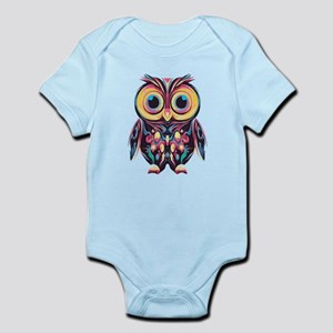 Colorful Little Owl Body Suit