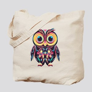 Colorful Little Owl Tote Bag