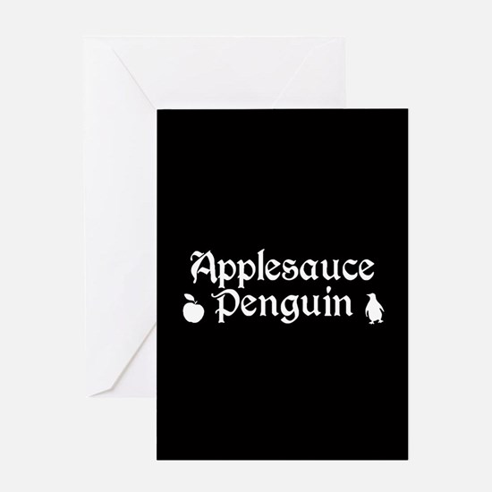 TVD Applesauce Penguin Greeting Cards