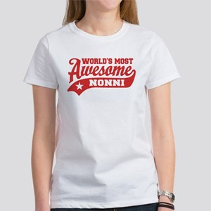 World's Most Awesome Nonni Women's T-Shirt