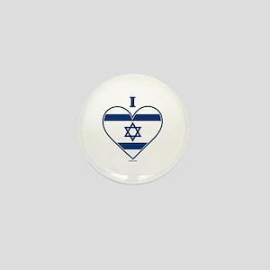 I Love Israel Mini Button