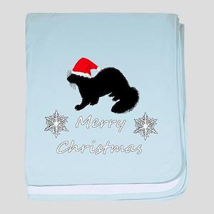 Christmas Ferret baby blanket