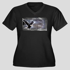 ISAIAH 40:31 Women's Plus Size V-Neck Dark T-Shirt