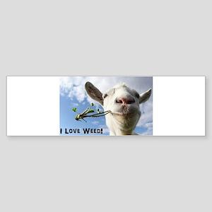 Weed Goat Bumper Sticker