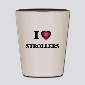 I Love Strollers Shot Glass