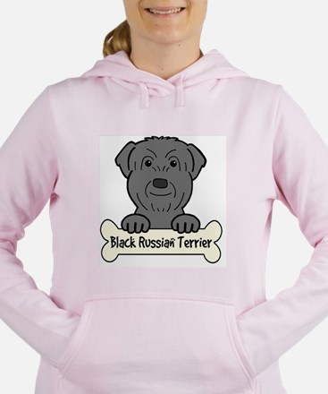 Unique Black russian terrier Women's Hooded Sweatshirt