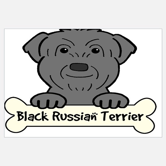 Unique Black russian terrier Wall Art