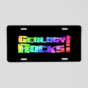 geologyRocksRainbowOST Aluminum License Plate