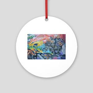 Graffiti City Scape Round Ornament