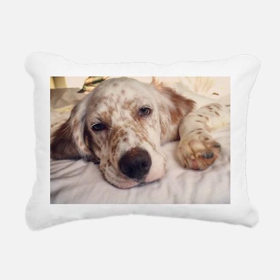 Cute Sleeping dog Rectangular Canvas Pillow