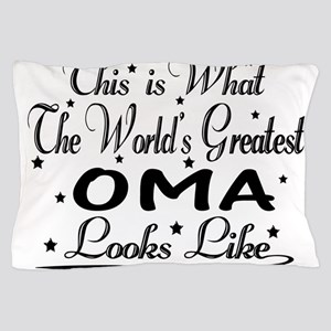 World's Greatest Oma... Pillow Case