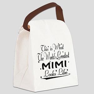 World's Greatest Mimi... Canvas Lunch Bag