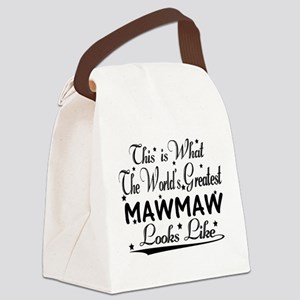 World's Greatest Mawmaw... Canvas Lunch Bag