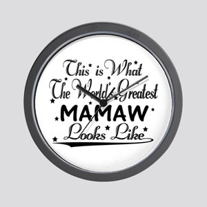 World's Greatest Mamaw... Wall Clock