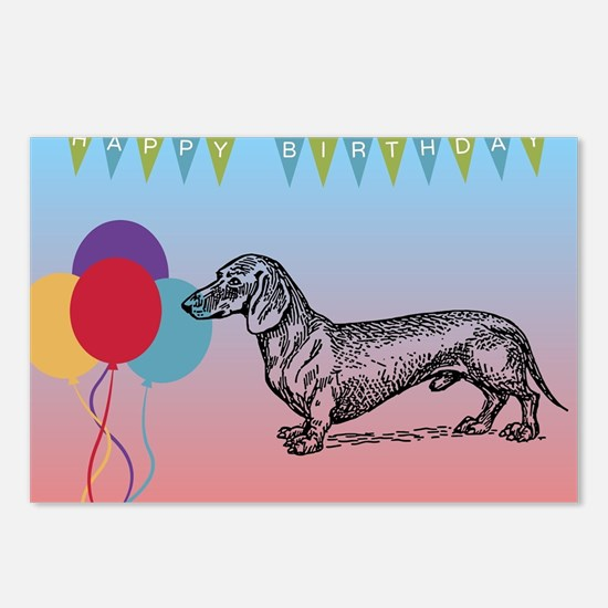 Dachshund Happy Birthday Postcards (Package of 8)