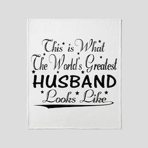 World's Greatest Husband... Throw Blanket