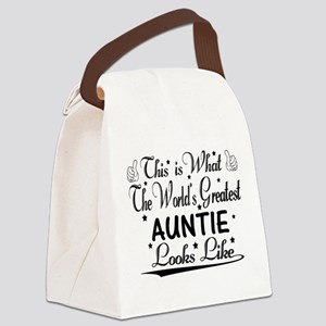 World's Greatest Auntie... Canvas Lunch Bag