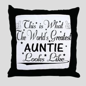 World's Greatest Auntie... Throw Pillow