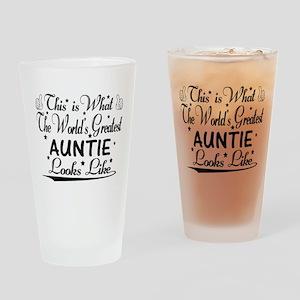 World's Greatest Auntie... Drinking Glass