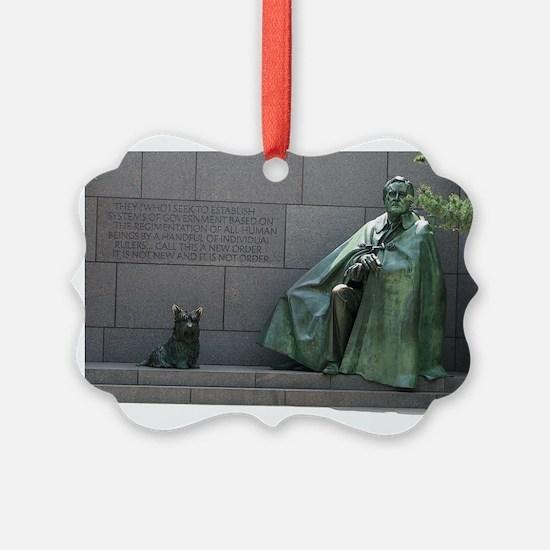 Fdr And Fala Ornament