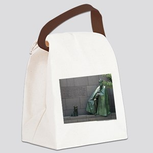 FDR and Fala Canvas Lunch Bag
