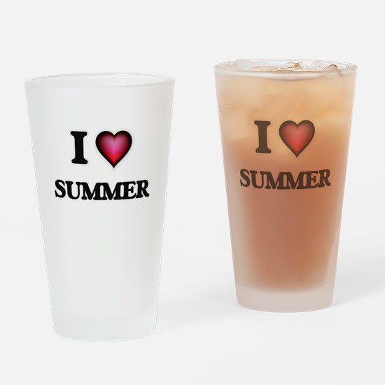 I love Summer Drinking Glass