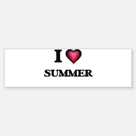 I love Summer Bumper Bumper Bumper Sticker