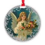 Vintage Victorian Christmas Angel with Toys Orname