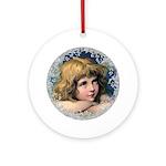 Vintage Victorian Christmas Angel Round Ornament
