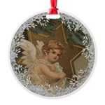 Vintage Victorian Christmas Angel with Star Orname