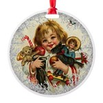 Vintage Victorian Christmas Baby with Toys Ornamen