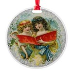 Vintage Victorian Christmas Angels Ornament