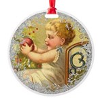 Vintage Victorian Christmas Baby Ornament