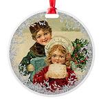 Vintage Victorian Christmas Children Ornament