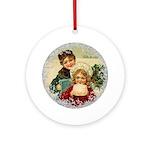 Vintage Victorian Christmas Children Round Ornamen