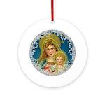 Vintage Victorian Mary Jesus Round Ornament