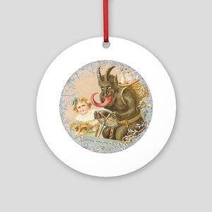 Vintage Victorian Krampus Round Ornament