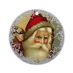 Vintage Victorian Father Christmas Round Ornament