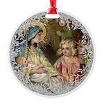 Vintage Victorian Nativity Ornament