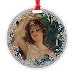 Vintage Victorian Christmas Lady Ornament