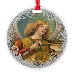 Vintage Victorian Golden Angel Ornament
