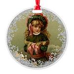Vintage Victorian Christmas Girl Ornament