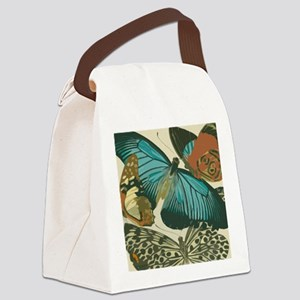 Butterfly Collage Canvas Lunch Bag