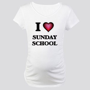 I love Sunday School Maternity T-Shirt