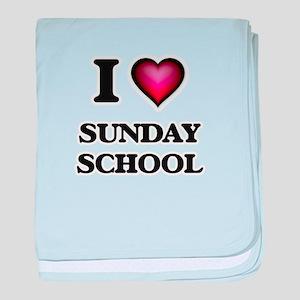 I love Sunday School baby blanket