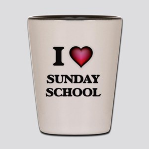 I love Sunday School Shot Glass